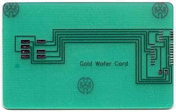 Gold Wafer Card